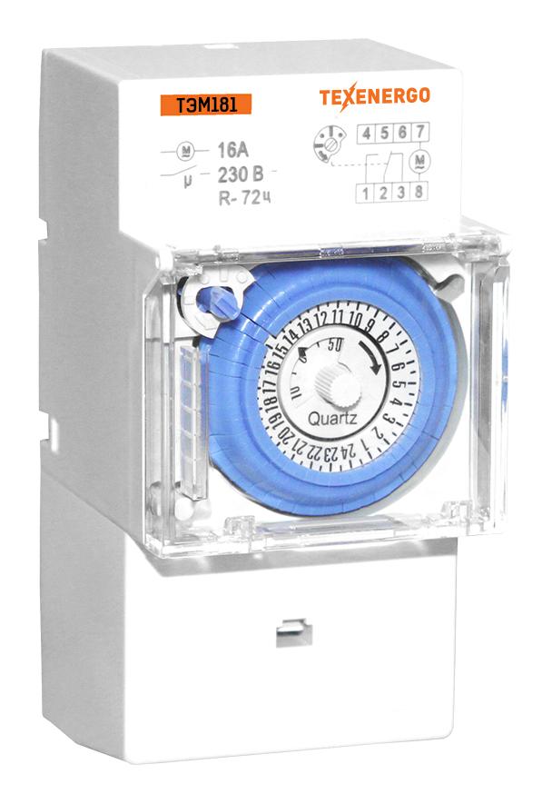 ТЭМ181 таймер аналоговый на DIN-рейку MTEM181 Texenergo