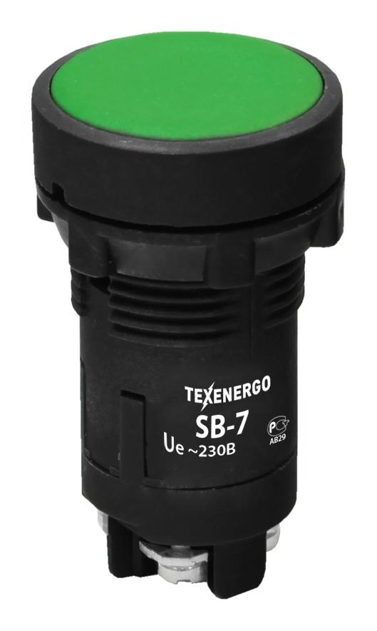 Кнопка SB-7 зеленый B7-EA35 Texenergo