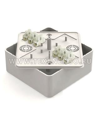 Коробка распаячная сосна 75х75х20 (с клеммами) GREENEL GE41212-11 Россия