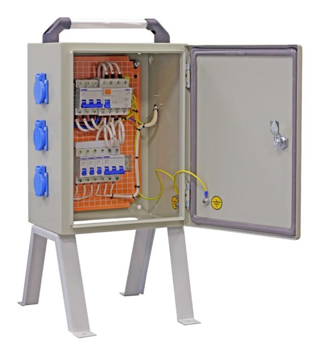 Щит механизации ЩМ- РУСП- 50-3х1П-1х3П-IP54 (ВВ- 50А, 3 роз. 1Р+N+РЕ 16А, 1 роз. 16А 3Р+N+PE) SM-50-3-1 Texenergo