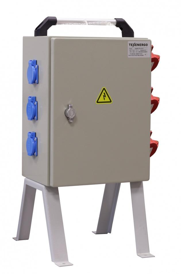 Щит механизации ЩМ- РУСП- 50-3х1П-3х3П-IP54 (ВВ- 50А, 3 роз. 1Р+N+РЕ 16А, 3 роз. 16А 3Р+N+PE) SM-50-3-3 Texenergo