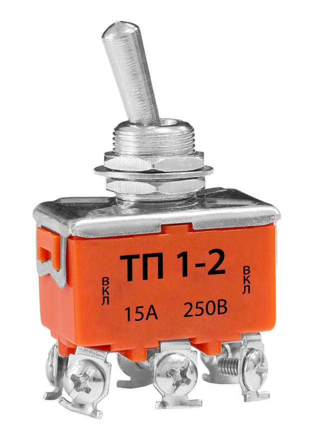 Тумблер ТП 1-2 15А 250В TS15-2 Texenergo