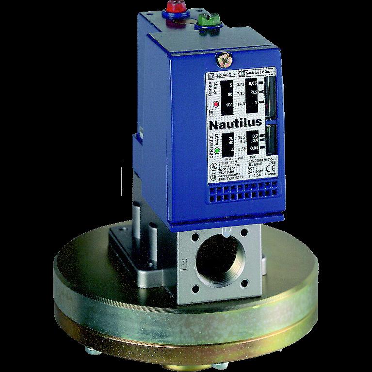Выключатель давления OsiSense XMLB 70 бар, регулируемая уставка, 1C/O XMLB070N2S11 Schneider Electric