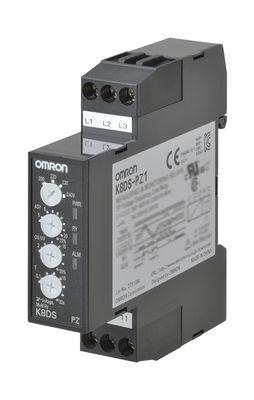 K8DS-PZ2 Реле контроля серии K8DS, трехфазное, с функцией контроля напряжения, асимметрии и чередования/обрыва фаз, входной диапазон для трехпроводного подключения: 380...480 V AC, для четырехпроводного подключения: 220...277 V AC 387488 Omron
