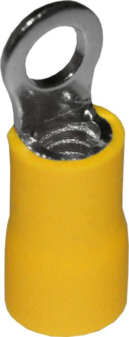 Наконечник кольцевой изолированный под винт НКИ 6,0-4 жёлтый (уп. по 100 шт.) NK6064 Texenergo