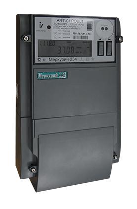 Счетчик электроэнергии Меркурий 234 ARТ-01 P 3*230/400, 5(60)А, мн.т., кл.т.1,0 / 2,0, оптопорт, RS-485  Инкотекс