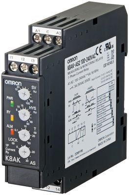 K8AK-AS2 100-240VAC Реле контроля серии K8AK, однофазное, с функцией контроля тока, диапазоны входного сигнала: от 0 до 8 A AC/DC, напряжение питания 100..240 V AC 378160 Omron