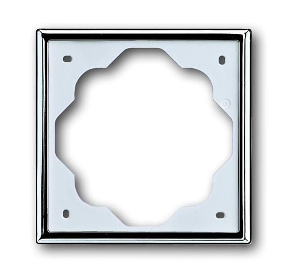 Рамка 1-постовая, серия impuls, цвет хром 1754-0-4514 ABB