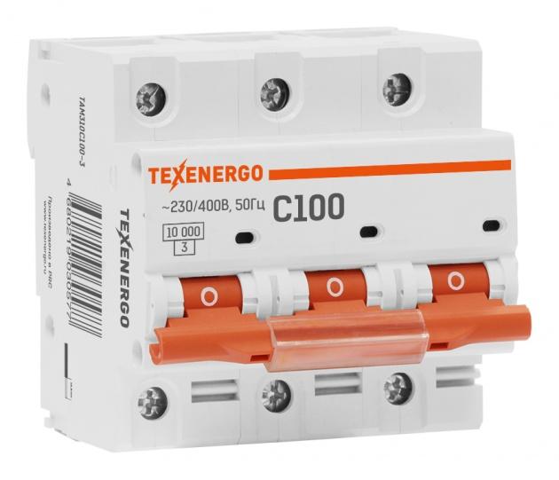 Автоматический выключатель ВА 47100 3п 100А С 10кА TAM310C0100-1 Texenergo
