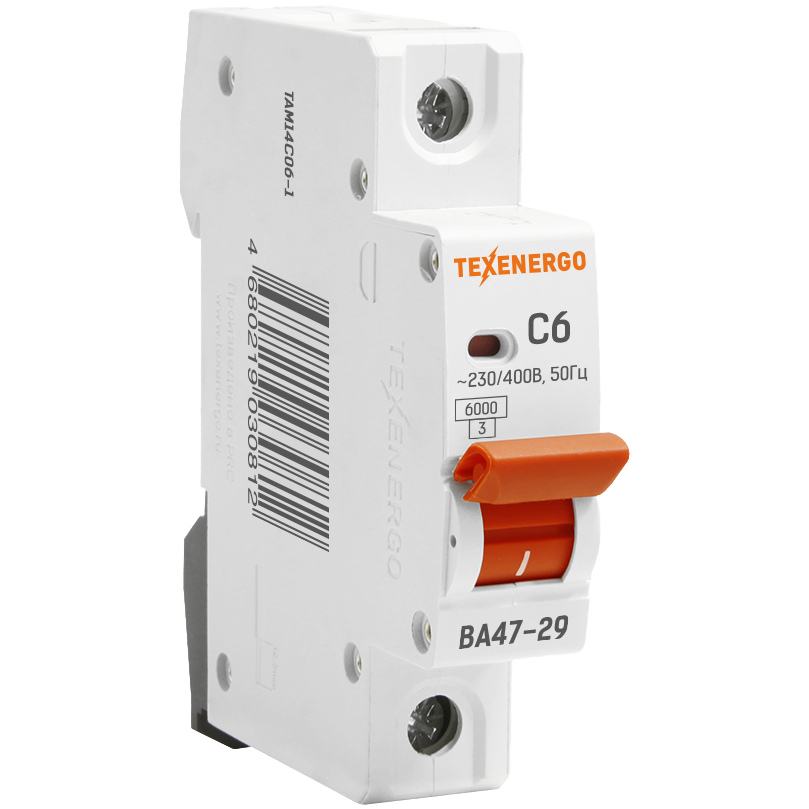Автоматический выключатель ВА 4729 1п 32А С 6кА TAM14C32-1 Texenergo