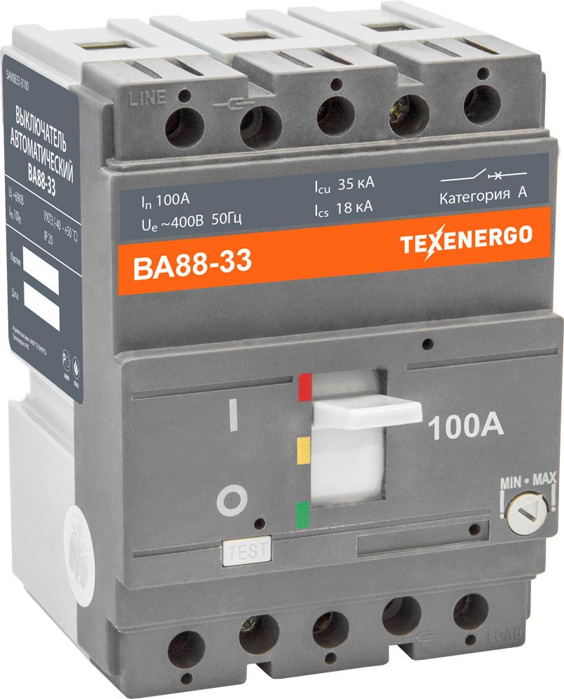 Автоматический выключатель ВА 8833 100А SAV8833-0100 Texenergo