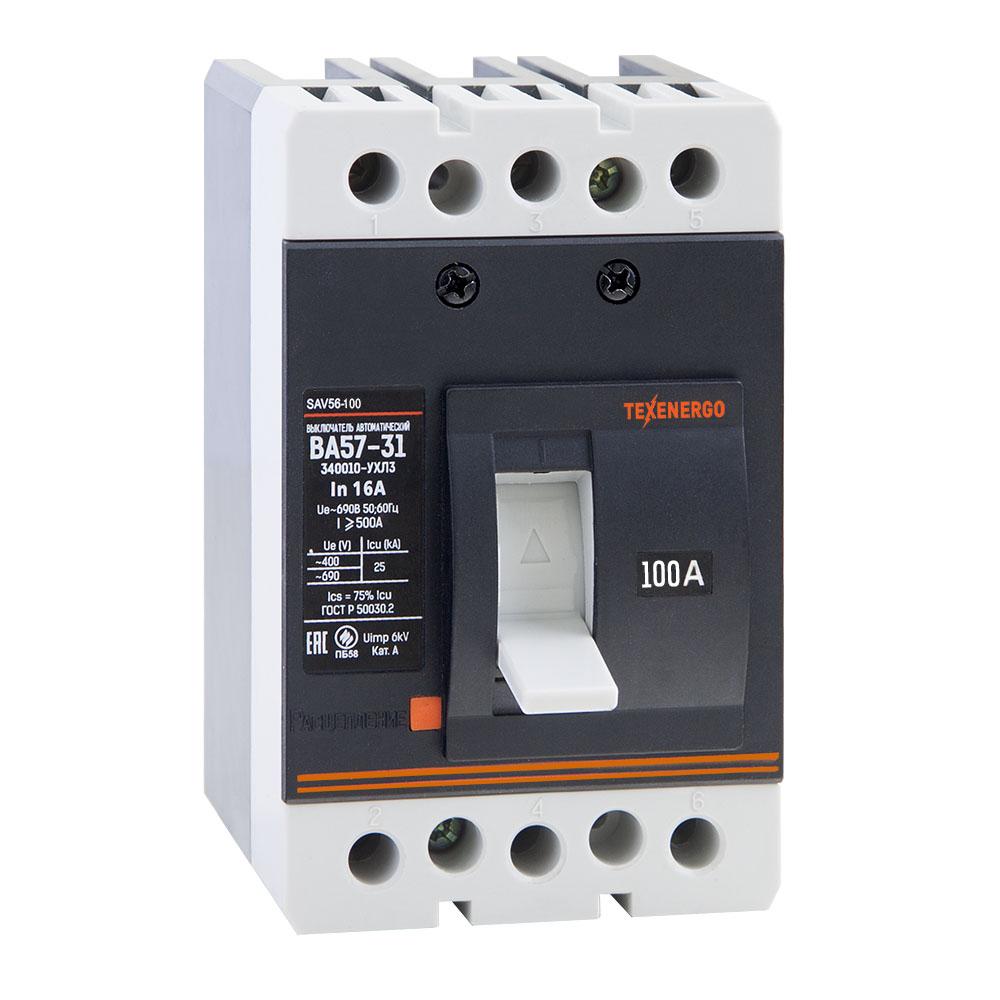Автоматический выключатель ВА 5731-340010 16А SAV56-016 Texenergo