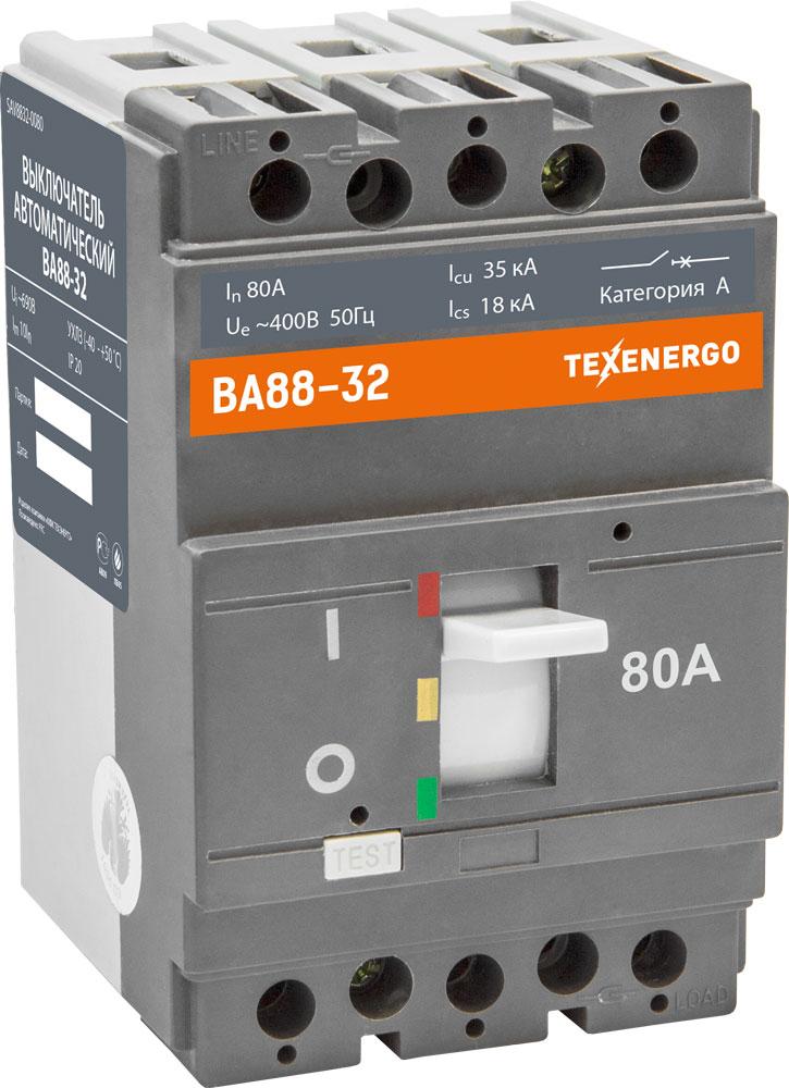Автоматический выключатель ВА 8832 80А SAV8832-0080 Texenergo