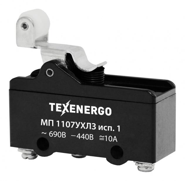 Микропереключатель МП 1107 исп.1 винт (рычаг с роликом) MCP11071 Texenergo