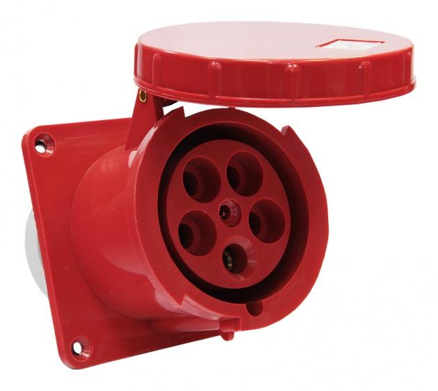 Розетка 345 стац. 3Р+Е+N 125А 380В SE345-125Q Texenergo