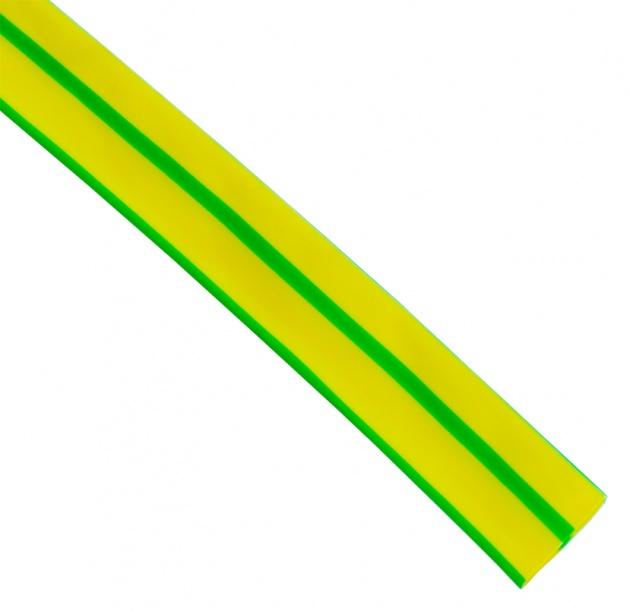 Термоусаживаемая трубка ТУТ 10/5 желто-зеленая (по 1м) TT10-1-K56 Texenergo