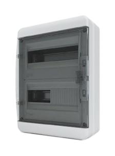 Бокс пластиковый ЩРН-П-24 мод прозрачная черная дверь IP65 BNK 65-24-1 Tekfor