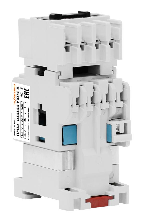 Пускатель электромагнитный ПМ12-010100 220В 3з+2р PM1K010M32 Texenergo