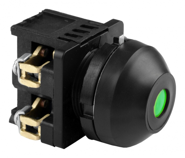 Выключатель кнопочный КЕ 081/2 зеленый 1з+1р B0812-11G Texenergo