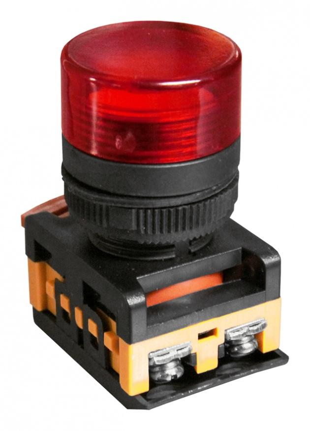 Индикатор AL-22TE красный 230В неоновая лампа, колпачек плоский MFK-ALTE-230-04 Texenergo