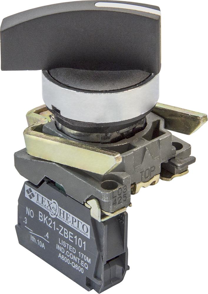 Переключатель ВК21-ВJ41 1з (2 положения) с возвратом, удл. ручка S21-BJ41 Texenergo