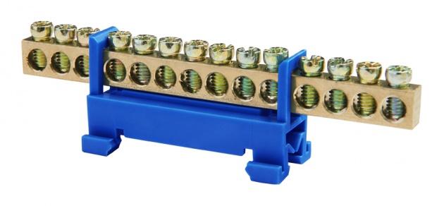 Шина нулевая 14 6х9 мм (с DIN-изолятором