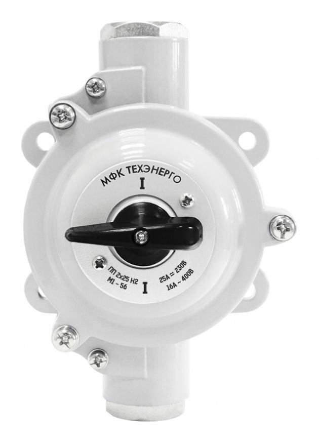 Пакетный переключатель ПП 2х25/Н2 IP56 силумин PP2-025S-2 Texenergo