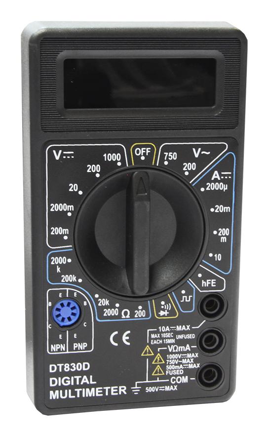 Мультиметр М830 D (DT830D) (зв.прозвонка, генератор 50Гц) 1000В,10А,2МОм PDT830D Mastech