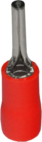 Наконечник штыревой круглый изолированный НШКИ 1,5-12 (100 шт.) NSHK02-19A Texenergo