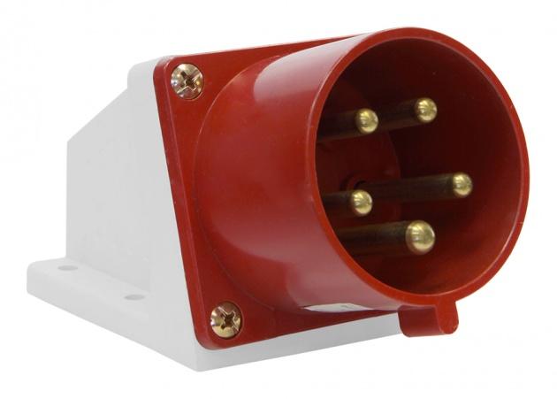 Вилка силовая стационарная 525 3Р+PE+N 32А 380В IP44 SE525-032Q Texenergo
