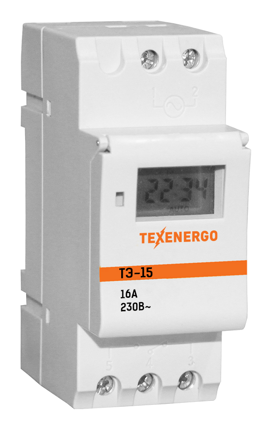ТЭ15 таймер электронный на DIN-рейку MTE15 Texenergo