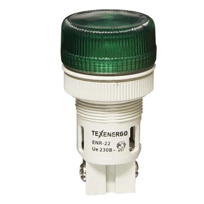 Арматура светосигнальная ENR-22 зеленая 230В MFK-ENR-230-06 Texenergo