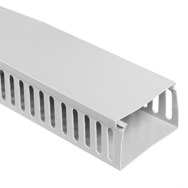 Кабель-канал перфорированный 100х60 (ПВХ-серый) CKKP100-060G Texenergo