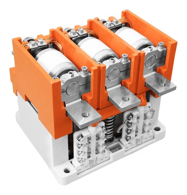 Контактор вакуумный КВТ 1,14-4/400, 220В, In=5 /0,5A, 3-х полюсный KVT-400-220-3 Texenergo