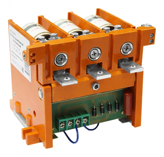 Контактор вакуумный КВТ 1,14-2,5/160, 110В, In=5 /0,5A, 3-х полюсный KVT-160-110-3 Texenergo