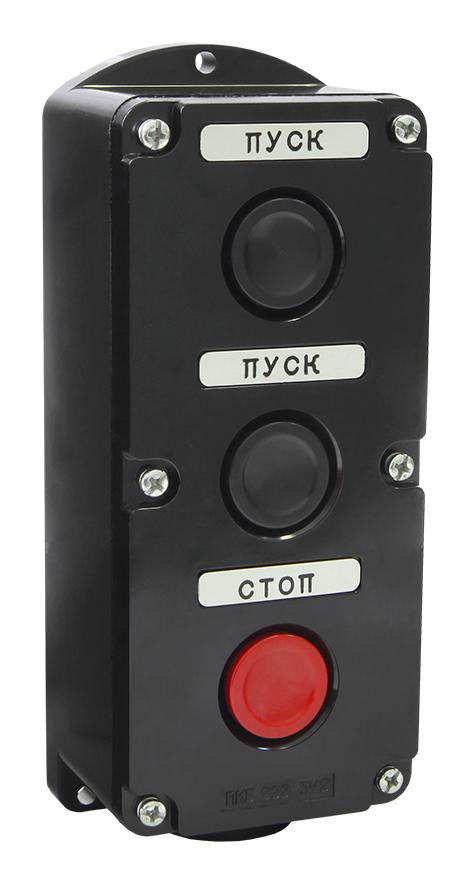 Пост кнопочный ПКЕ 222-3 У2 IP54 (пластик) клавиши но+нз PKE2223-P Texenergo