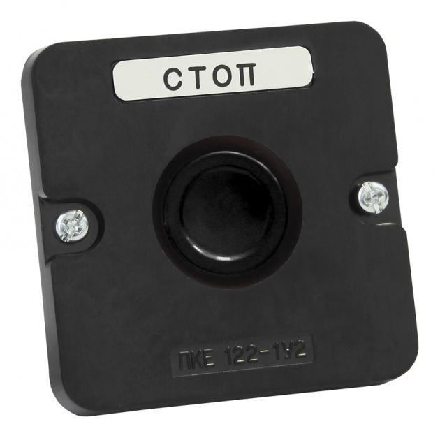 Пост кнопочный ПКЕ 122-1 черная кнопка (пластиковый) PKE1221KB-P Texenergo