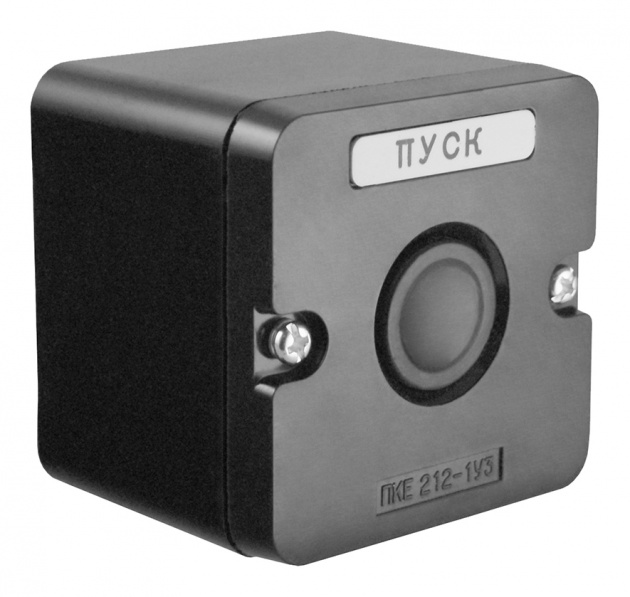 Пост кнопочный ПКЕ 212-1 черный пластиковый PKE2121KB-P Texenergo