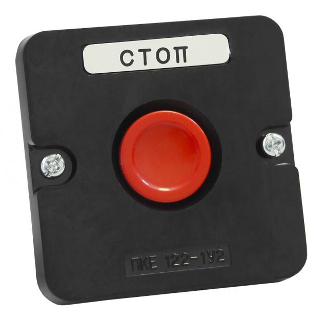 Пост кнопочный ПКЕ 122-1 красная кнопка (пластиковый) PKE1221KR-P Texenergo