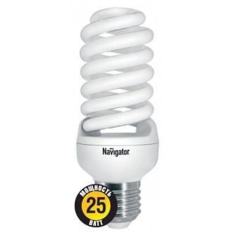 Лампа энергосберегающая КЛЛ 25/840 Е27 D46х123 спираль 94356 NCLP-SF Navigator