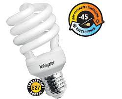 Лампа КЛЛ 28/840 Е27 D55x119 спираль (до-45°) 94293 NCL-SH10/OUTDOOR Navigator
