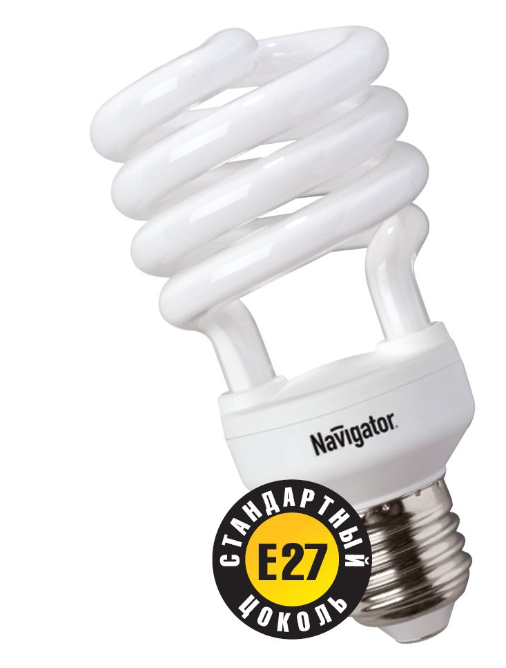 Лампа энергосберегающая КЛЛ 50/840 Е27 D53x112 спираль 94051 NCL-SH Navigator
