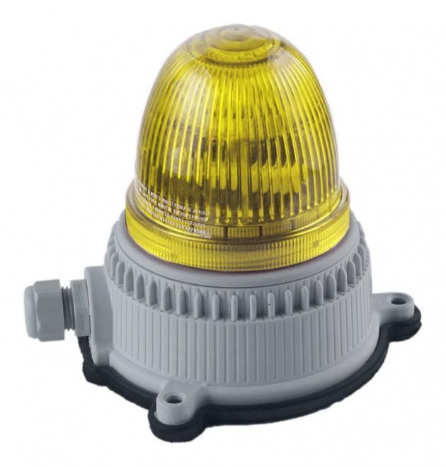 Маяк мигающего свечения желтый 24/240В (30115) OVOPG9LMT24240A5 Sirena