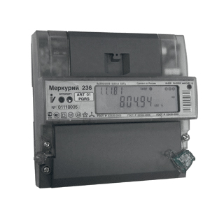 Счетчик Меркурий 236 ART-02 PQL, 3х230/400 10(100)А, кл.т.1,0/2,0, мн.т.,DIN-рейка  АСК-электрокомплект