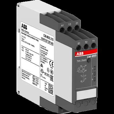 Термисторное реле защиты двигателя CM-MSS.31S с кнопкой сброса и контролем КЗ, 24-240 В AC/DC, 1НО1НЗ, винтовые клеммы 1SVR730712R1400 ABB
