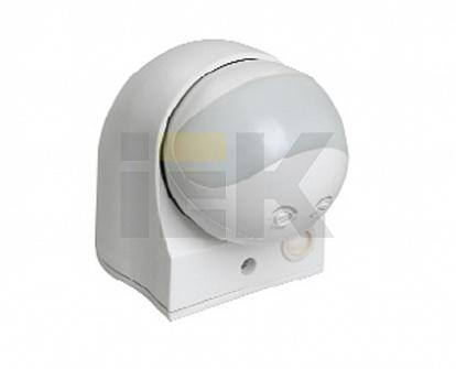 Датчик движения ДД 010 белый, макс. нагрузка 1100Вт, угол обзора 180град., дальность 10м, IP44 LDD10-010-1100-001 IEK