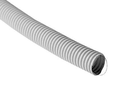 Труба ПВХ гофрированная 25 мм тяжёлого типа с зондом  Промрукав