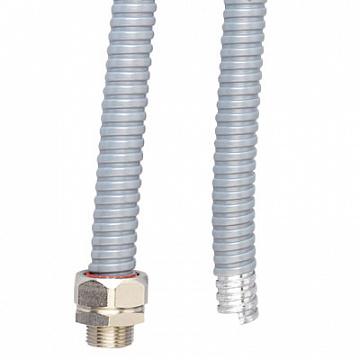 DKC Металлорукав DN 20мм в ПВХ изоляции, Dвн 20,5 мм, Dнар 25,5, 50 м, цвет серый 6071-020 DKC