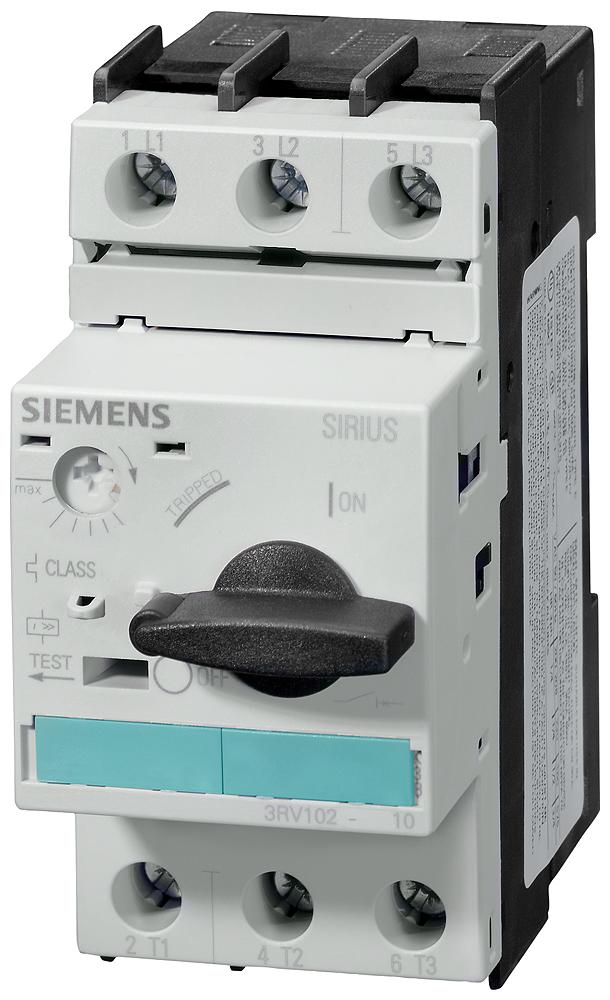 Выключатель автоматический для защиты электродвигателей 7..10A N-расцепитель 120A типоразмер S0 класс 10 винтовые зажимы (3RV1021-1JA10) 3RV1021-1JA10 Siemens