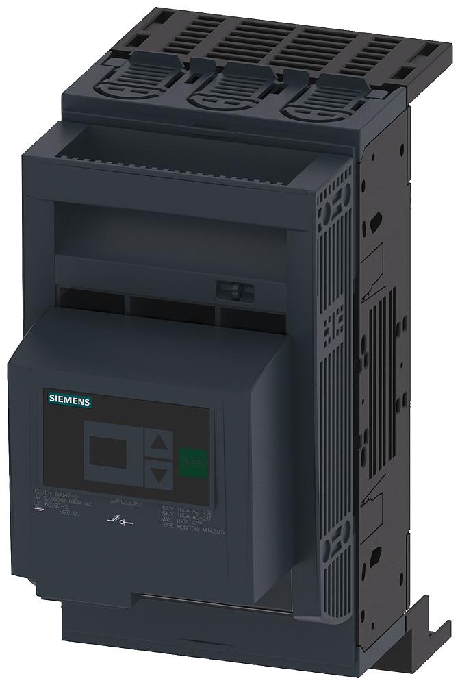 Разъединитель 3п NH00 160A 40мм шинная система COVERS для RITTAL рамочный зажим (3NP1133-1JB23) 3NP1133-1JB23 Siemens
